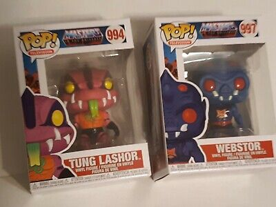 $22 • Buy 2-FUNKO POPS !!! Masters Of The Universe - Webstor/Tung Lashor  New