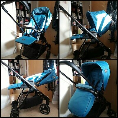 Hauck ICoo Travel System, Pram, Pushchair, ISofix Base And *NEW* Car Seat  • 150£