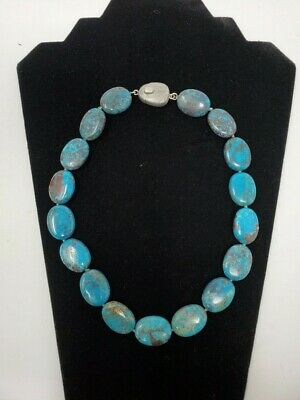 $ CDN66.54 • Buy WK Whitney Kelly  925 Sterling Silver Turquoise Stone Necklace 18