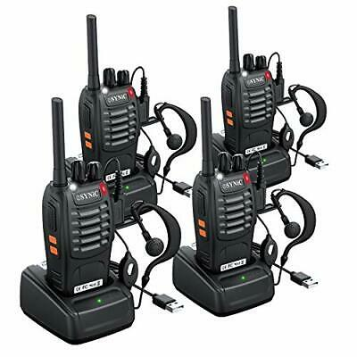 $ CDN129.40 • Buy 4Pcs Walkie Talkies- 2 Way Radio Long Range Rechargeable Walkie Talkie