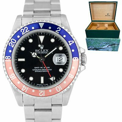 $ CDN15088.80 • Buy 1991 Rolex GMT-Master 40mm PEPSI Red Blue FADED Stainless Steel Watch 16700 Box