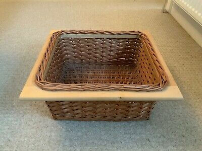 Wicker Basket Drawer Kitchen Pull Out Drawer • 10£