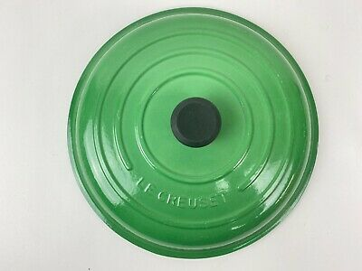 $ CDN158.59 • Buy LE CREUSET Green Enameled #32 CAST IRON 5 QT Dutch Oven LID ONLY