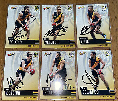 AU24 • Buy AFL Select 2014 Champions Richmond Tigers Signed Cards X6