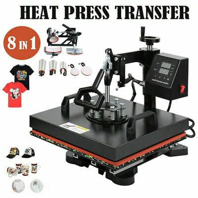 AU273.43 • Buy 8 In 1 Heat Press Transfer T-Shirt Mug Hat Sublimation Printer Printing Machine