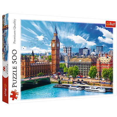 £3.99 • Buy Trefl 500 Piece Sunny Day In London Jigsaw Puzzle Educational Activity Toy Game
