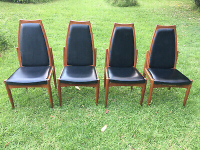 AU400 • Buy Four Chiswell Mid Century Teak Dining Chairs Not Eames Parker