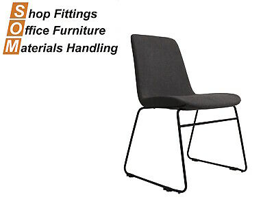 AU165 • Buy Tempo Grey Fabric Visitor Conference Hospitality Chair With Sled Base