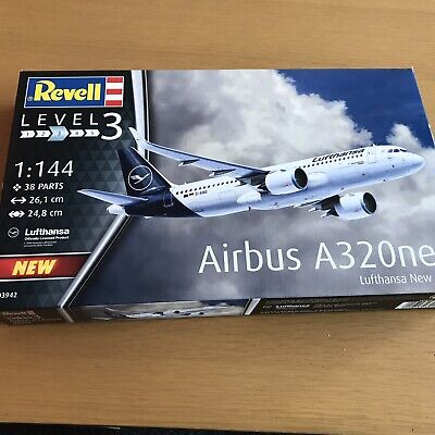 Revell Airbus A320neo Lufthansa  New Livery  Aircraft Model Kit - Scale 1:144 • 12.99£