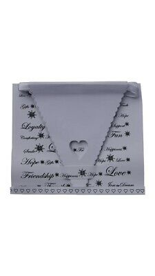 Mr And & Mrs White Wedding Bunting Scalloped Heart Card Bunting Banner Garland • 2.50£