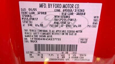 $1025 • Buy Automatic Transmission 8-280 4.6L 4R70E Fits 04-05 FORD F150 PICKUP 3410665