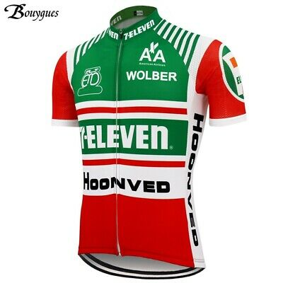 AU31.60 • Buy Cycling Jersey Retro 1986 7 Eleven Davis Phinney Vintage Short Sleeve Bike