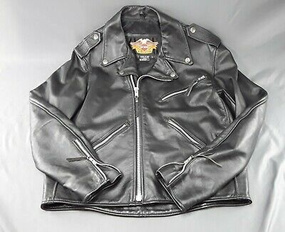 $ CDN204.26 • Buy  Harley Davidson Classic Style Black Leather Jacket Made In USA Men's Large Size