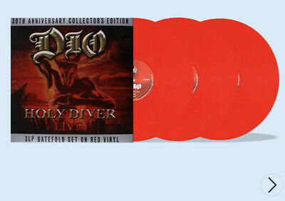 £32.99 • Buy Dio, Holy Diver Live 3 Red Vinyl Albums , Brand New Still Sealed