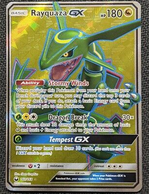 $ CDN69.62 • Buy Rayquaza GX 160/168 Full Art Sun And Moon Celestial Storm Ultra Rare Pokemon TCG
