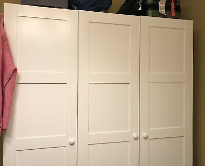 IKEA PAX BERGSBO CREAM WARDROBE 150 X 201 Cm ( Doors And Frames Only) • 60£