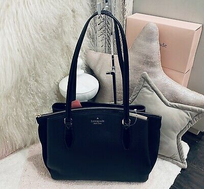 $ CDN251.20 • Buy NWT Kate Spade Monet Leather/Suede Shoulder Black Large Triple Compartment Tote