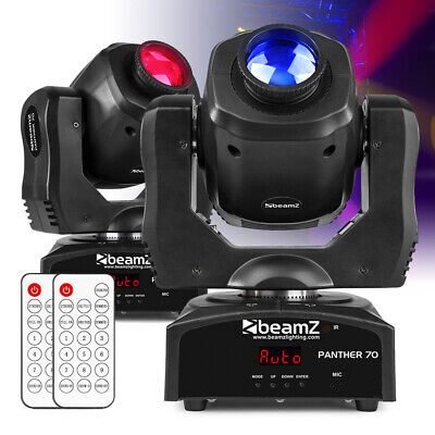 Pair Of LED Moving Head Spot Lights Gobo Open Beam DMX DJ Stage Lighting • 269£
