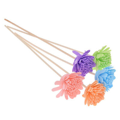 AU2.69 • Buy 5PCS Mixed Color Rattan Reed Diffuser Sticks Chrysanthemum Aroma Home Fragrance