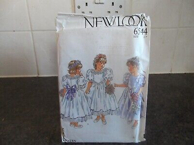 Vintage New Look Sewing Pattern 6544 Girls Bridesmaids Dress Size 2,3,4,5,6,7 • 6.50£