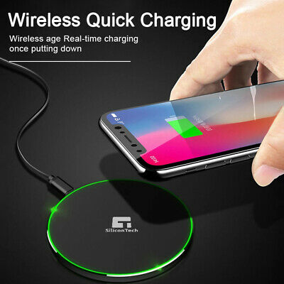 $ CDN10.40 • Buy Wireless Charger For Samsung Galaxy S7 S8 S9 S10 S20 Plus Fast Qi Charging Pad