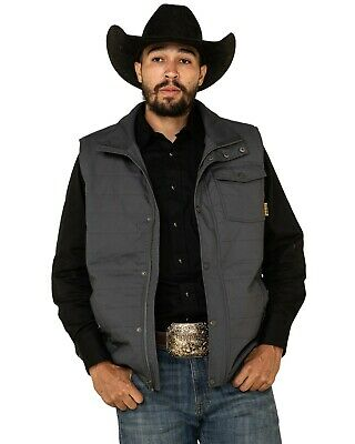 $99.99 • Buy Cinch Men's Charocoal Canvas Coated Polyfill Puffer Vest  - MWV1532002