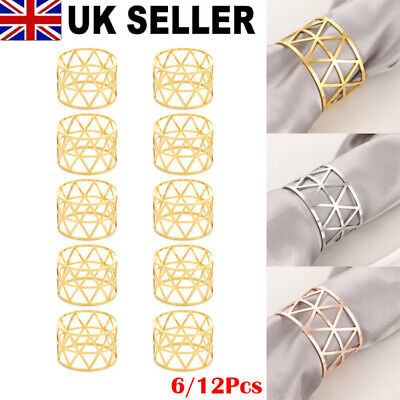 £5.99 • Buy 6/12Pcs Alloy Napkin Rings Wedding Decor Dinner Table Napkin Party Accessories