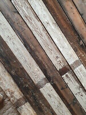 £24 • Buy Reclaimed Floorboards Flooring Cladding Timber Pine 4 1/2 Inch T & G  £24 Sq Mt