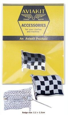 £7 • Buy Checkered Flag Badge By Aviakit Lewis Leathers