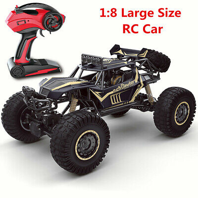 1/8 Large Remote Control RC Cars Big Wheel Kids Toy Car Monster Truck 2.4GHz UK • 52.99£