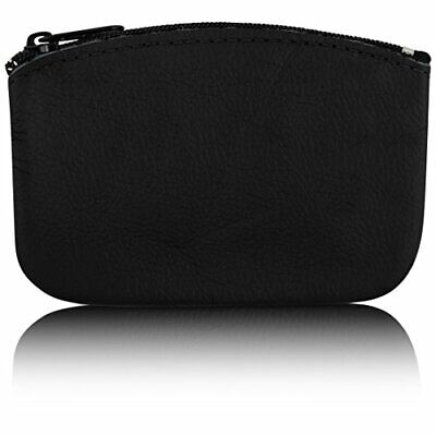 $12.47 • Buy Classic Mens Large Coin Pouch Genuine Leather Zippered Change Purse