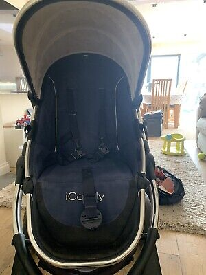 Icandy Peach 3 Royal Blue Pram Travel System • 4.20£