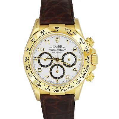 $ CDN27130.76 • Buy INVERTED 6 Rolex Daytona Cosmograph Zenith 16518 18K Gold Chronograph 40mm Watch