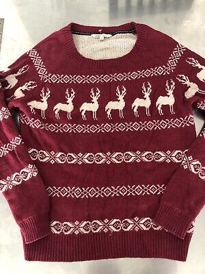 £18 • Buy Fat Face Christmas Jumper Reindeers Stag Xmas Size 16.       A170