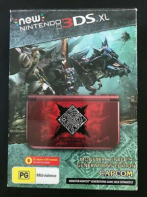 AU500 • Buy Brand New Nintendo 3DS XL Monster Hunter Generations Limited Edition Console