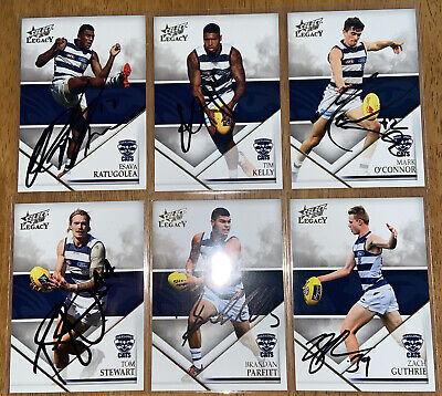 AU24 • Buy AFL Select 2018 Legacy Geelong Cats Signed Cards X6