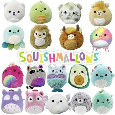 AU8.95 • Buy Squishmallows 3.5  Clip-On Super Soft Cuddle & Squeeze Squishy Animal Plush Toy