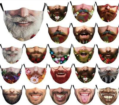 $ CDN13.30 • Buy 3D Printed Funny Face Mask1 Breathable Washable Mouth Protection Reusable Unisex