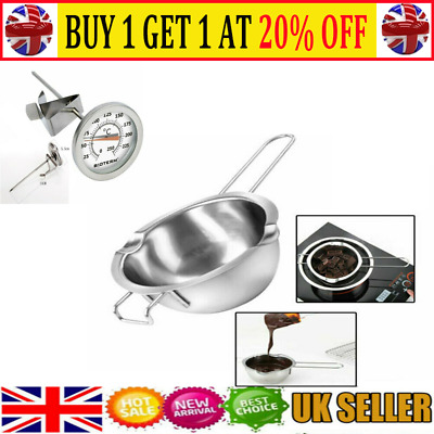 Stainless Steel Wax Melting Pot Double Boiler For DIY Wedding Scented Candle T • 6.95£
