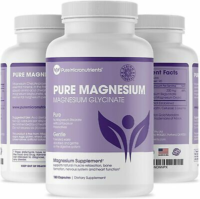 £22.98 • Buy Pure Micronutrients Magnesium Glycinate Supplement (Chelated) 200mg, 180 Count