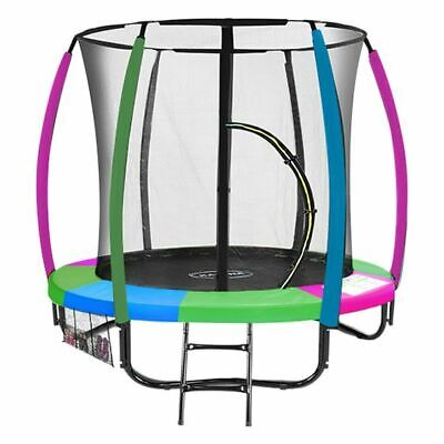 AU639 • Buy NEW Fly High Trampoline With Rainbow Safety Pad