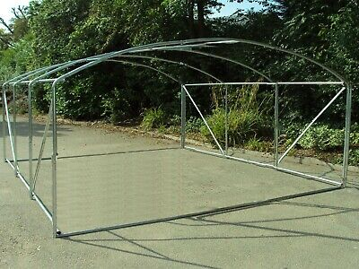Frame Only 4m X 3.5m Poly Tunnel Polytunnel Greenhouse Green House Polly Tunnel • 179.95£