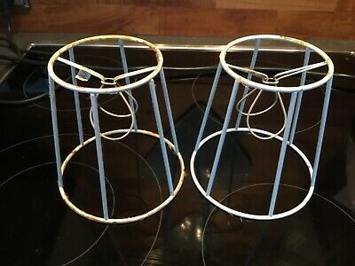 Pair Vintage Retro Wire Lampshade Frames • 8£