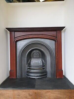 £445 • Buy 1 Cast Iron Fireplace Surround Fire Old Arch Insert Antique Victorian Style