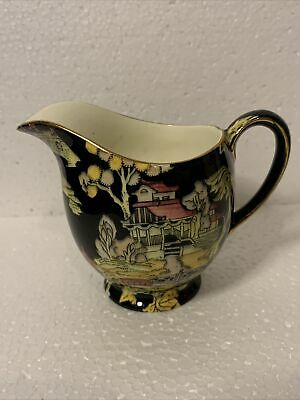 $ CDN12.27 • Buy Royal Winton Grimwades Handpainted Peking Black Chintz Gold Rim Creamer 1951