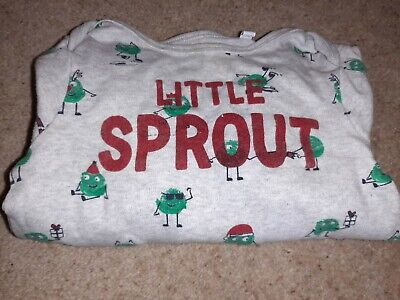 Blue Zoo 12-18 Months Sleepsuit/Baby Grow Little Sprout For Christmas  • 2£