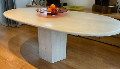 AU1000 • Buy Incredible Travertine Oval Dining Table