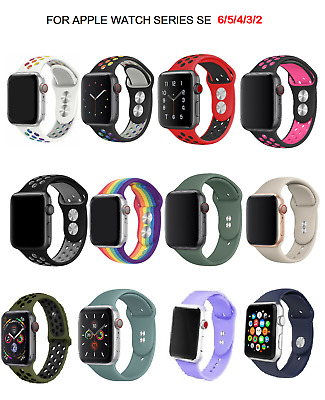 $ CDN8.21 • Buy For Apple Watch Series 6 SE 5 4 3 38-40/40-42 MM SILICONE Sport Strap Soft Band