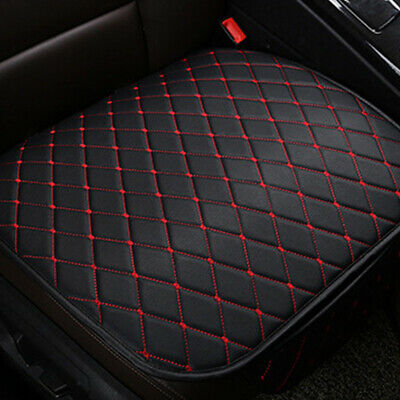 £9.59 • Buy Car Black+Red Seat Cover Front Cushion PU Leather Line Car Chair Accessories