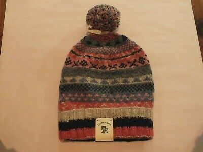 Pachamama Knit 100% Wool Outer Finisterre Baggy Beanie Fair Trade Bargain • 16£